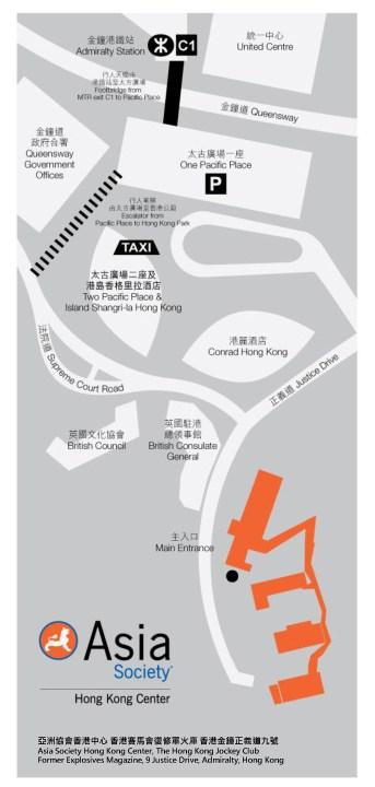Asia Society Hong Kong Center - Map